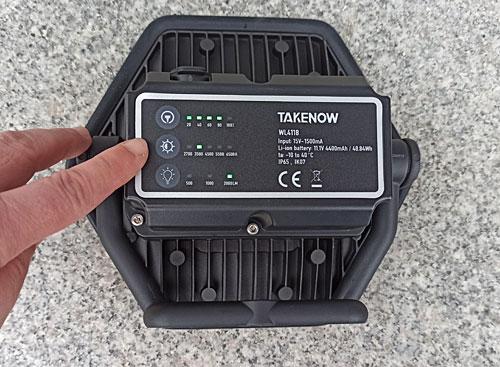 TAKENOW充電式5光色ワイドワークライト